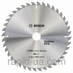 Circular saw on a tree of Bosch 254x30x40z