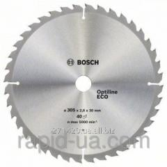 Circular saw on a tree of Bosch 305x30x40z