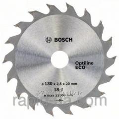 Пила дисковая по дереву Bosch 130x20/16x18z Optiline ECO