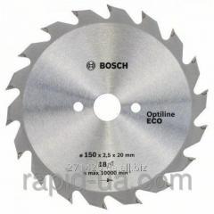 Пила дисковая по дереву Bosch 150x20/16x18z Optiline ECO