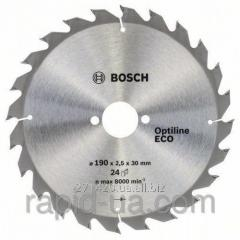 Circular saw on a tree of Bosch 190x20/16x24z