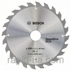 Circular saw on a tree of Bosch 190x30/24x24z