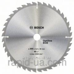 Circular saw on a tree of Bosch 254x30x80z Multi