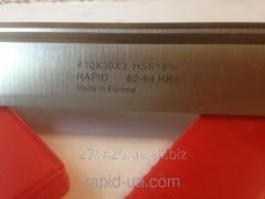 Planing knife on a tree of HSS w18 of % of 40*30*3 Rapid Germany HSS4030