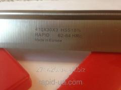 Строгальный фуговальный нож по дереву HSS w18% 200*40*3 Rapid Germany HSS20040