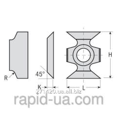 Knives fasochny and radial 16×22×5 45 ° CMT