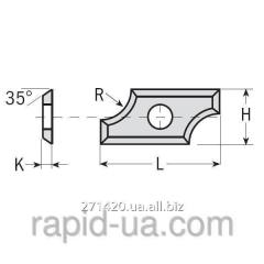 The pro-thinned-out radial knives 24×12×1,5 R6,4