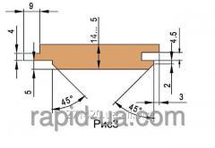 Комплект фрез для изготовления обшивочной доски 160х40х25х3 060.30.00.00.000
