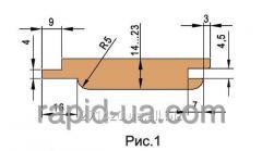 Комплект фрез для изготовления обшивочной доски вагонки 180х60х21х3 060.12.00.00.000