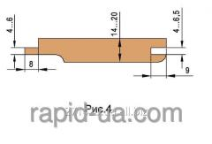 Комплект фрез для изготовления обшивочной доски вагонки 160х40/60х30х4 060.22.00.00.000