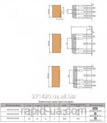 Комплект фрез для сращивания древесины по ширине наращиваемый по высоте 125х32х16х6 050.09.03.00.