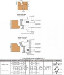 Комплект фрез с механическим креплением твердосплавных ножей, для обработки притвора и наплава дверного полотна 110.04.00.00.000