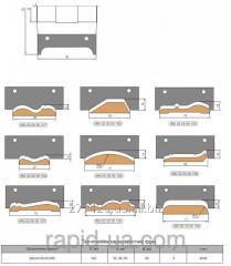 Фреза для изготовления погонажных изделий 9 видов 140х32 40;50 х90х4 060.02.00.00.000