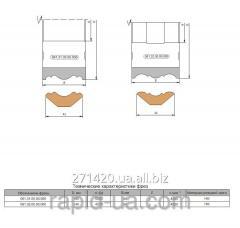 Фреза профильная, напаяннная т/с для обработки фасонных поверхностей реечного плинтуса 140х40/50х50х3 061.31.00.00.000