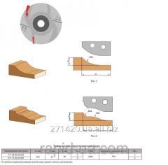 Фреза с механическим креплением твердосплавных ножей для обработки филенки 200х32х36 011.09.00.00.000