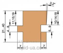 Фреза для доски пола регулируемый 21…40мм 160х40хВ=21…40х3+3 060.44.00.00.000