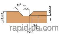 Фреза для обшивочной доски вагонки R=4 В=12…22 160х40х22х4 061.34.00.00.000