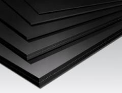 Technical rubber plate
