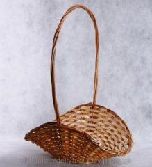 Плетеный цветочник розвернутый
