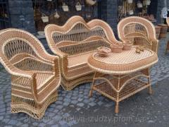 The wattled set of furniture Embroidered