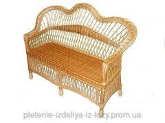 Плетеной диван из лозы