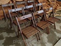 Деревяный складной стул темный цвет