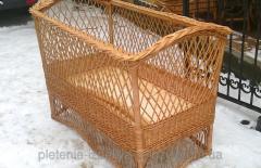 Кроватка-Люлька плетеная из лозы