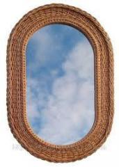 Плетеное зеркало из лозы Овальное