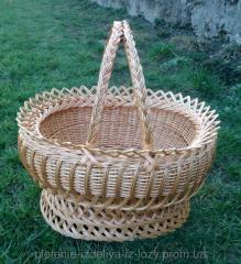 Плетеная корзина из лозыКорона