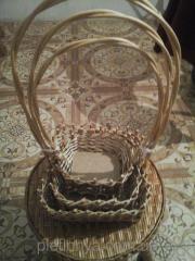 Подарочный набор корзин 4 шт квадратный