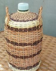 Бутыль плетеный
