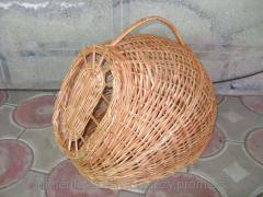Basket for animals from dverky
