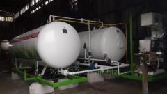The module for filling of cars with the liquefied