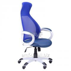 Кресло Cobra белый, сиденье Неаполь N-22/спинка Сетка синяя