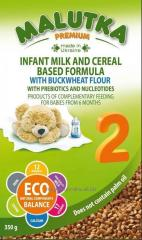 Milk formula on milk and cereal