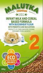 Milk formula on milk and cereal
