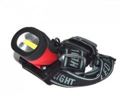 Светодиодный налобный фонарь 3W COB (ударопрочный, влагостойкий)