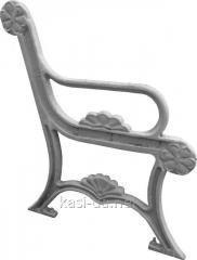 Боковина лавки садово-парковой чугунная с подлокотником № 2