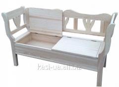 Лавка (скамья) деревянная садово-парковая со спинкой № 2