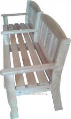 Лавка (скамья) деревянная садово-парковая со спинкой № 3