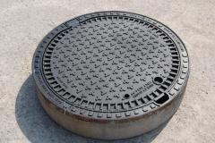 Люк канализационный сверхтяжелый KASI тип СТ (Е600) KЕ81P (Чехия)