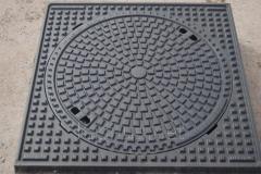 Люк канализационный сверхтяжелый квадратный KASI тип СТ (F900) KFC25 (Чехия)
