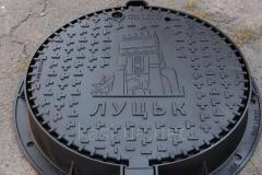 The heavy manhole Kasi the C250 KCU71P type T with a logo of the customer of KCU71P LOGO