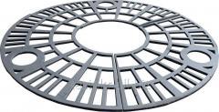 Приствольная решетка чугунная круглая №1