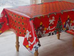 The German New Year's oilcloth on a holiday