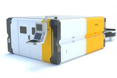 The machine with a fiber-optical laser source of