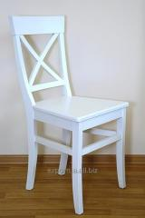 Chair white Henry, kitchen with a back, 48*46*92sm