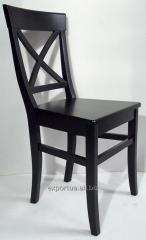Chair black Henry, kitchen with a back, 48*46*92sm