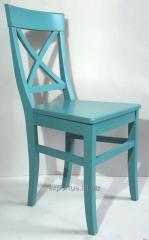 Chair turquoise Henry, kitchen with a back,