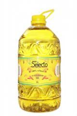 Масло подсолнечное рафинированное дезодорированное ТМ SELECTO в ПЭТ-бут 1л, 5л, 1,8л, 0,84л